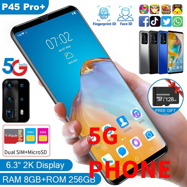 "5G 6.3"" Screen P45 Smartphone Dual Sims with Large Memory"