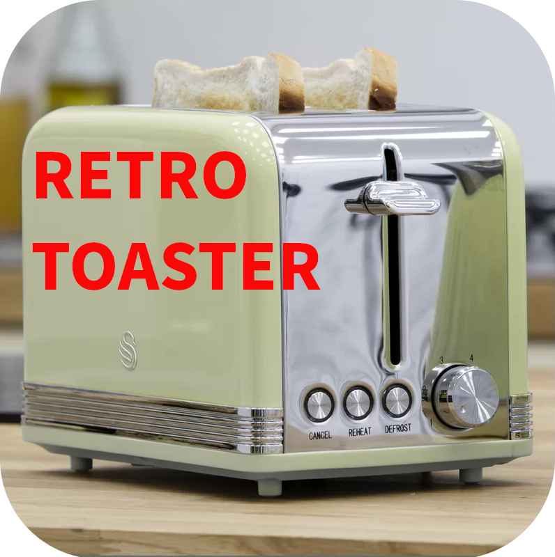 Retro 2 Slice Toaster by Swan